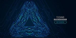 Digital technology circuit diagram futuristic banner Vector | Free Download