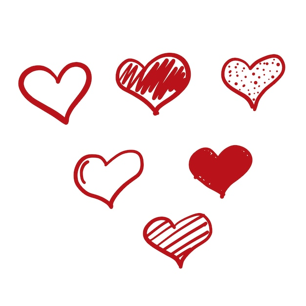 Download Doodle love icon Vector | Free Download