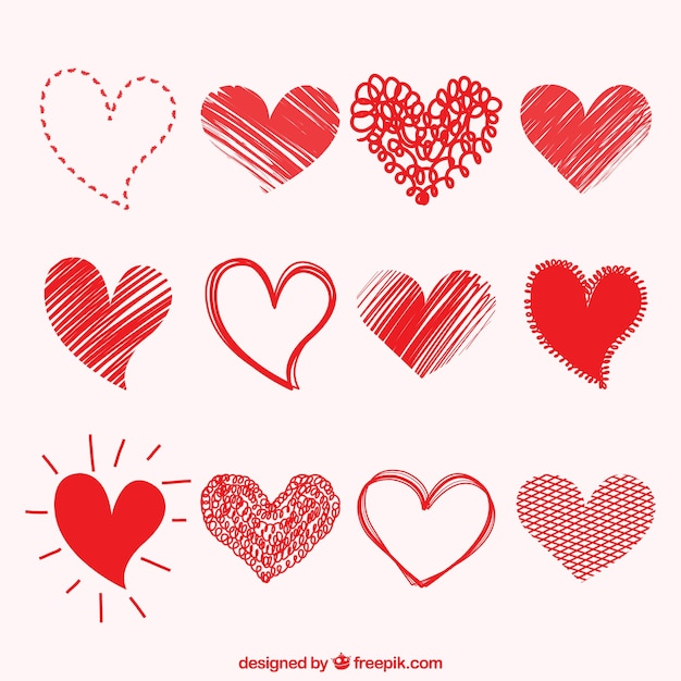 drawings of hearts collection