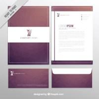 Elegant design of business stationery Vector   Free Download