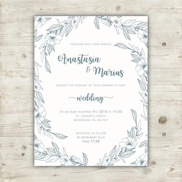 Blank Wedding Invitations