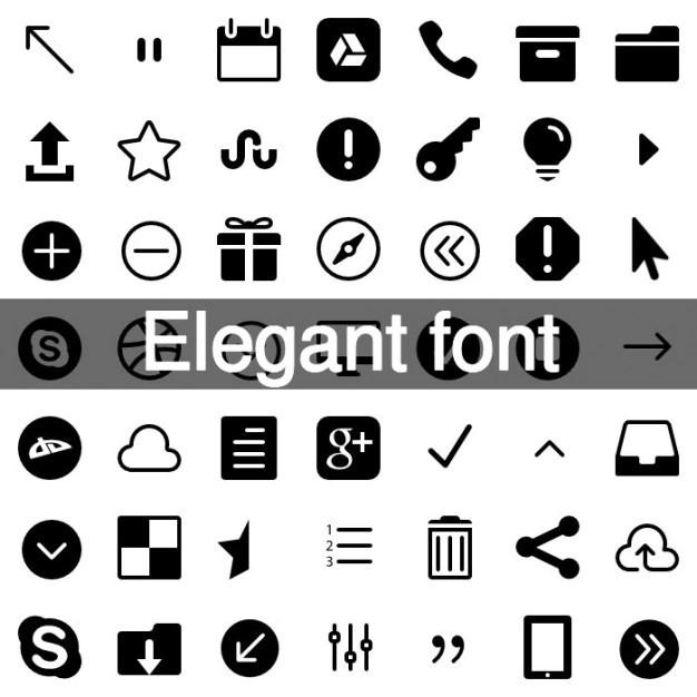 Download Elegant fonts icon set Vector | Free Download