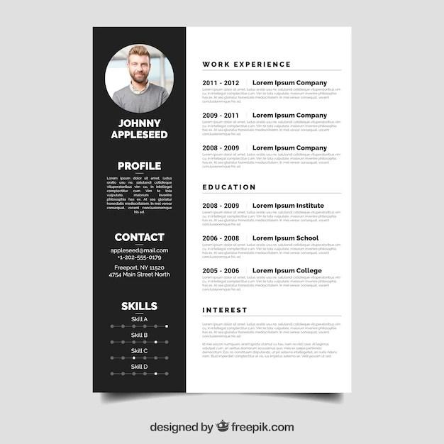 Elegant resume template Vector  Free Download