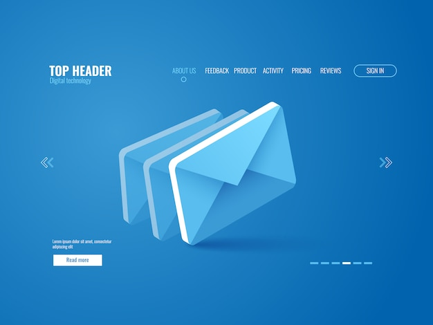 email icon isometric website