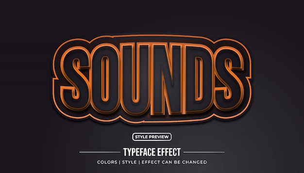 Embossed text style with bulge effect | Premium Vector