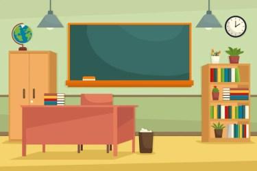 Cartoon Classroom Background