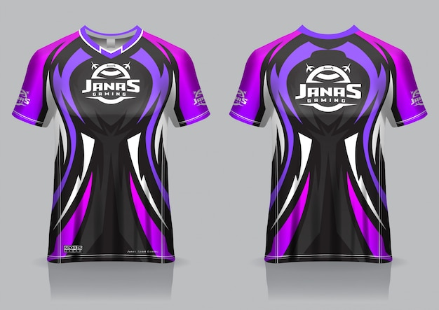 Custom gaming jerseys personalized esports jerseys. Premium Vector Esport Gaming T Shirt Jersey Template Uniform Front And Back View