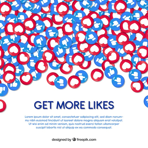 facebook background with hearts