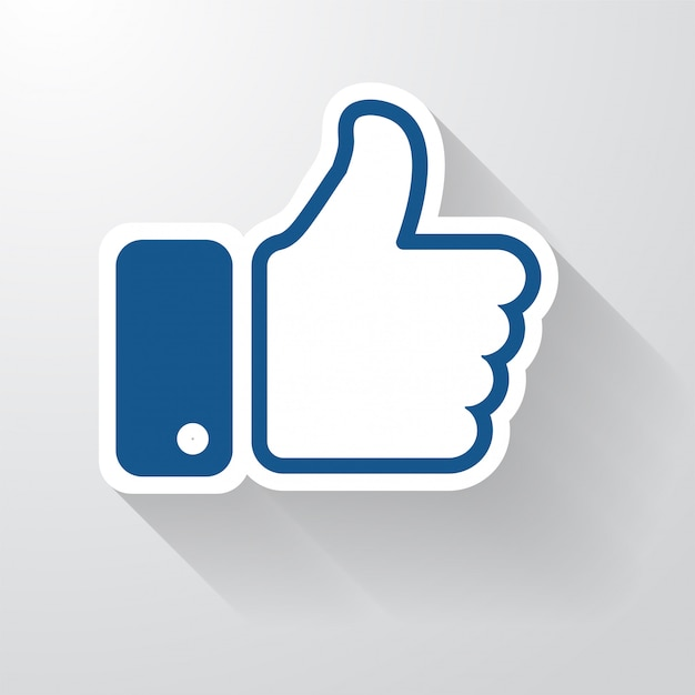 facebook like icon with