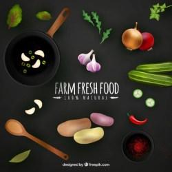 Premium Vector Farm fresh food background