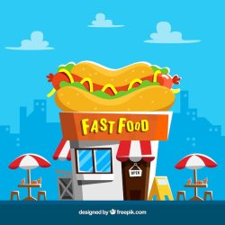 Free Vector Fast food background