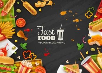 food background fast poster vector freepik fastfood restaurant colorful menu ufo pop clipart vectors beam frame light illustration retro 3d