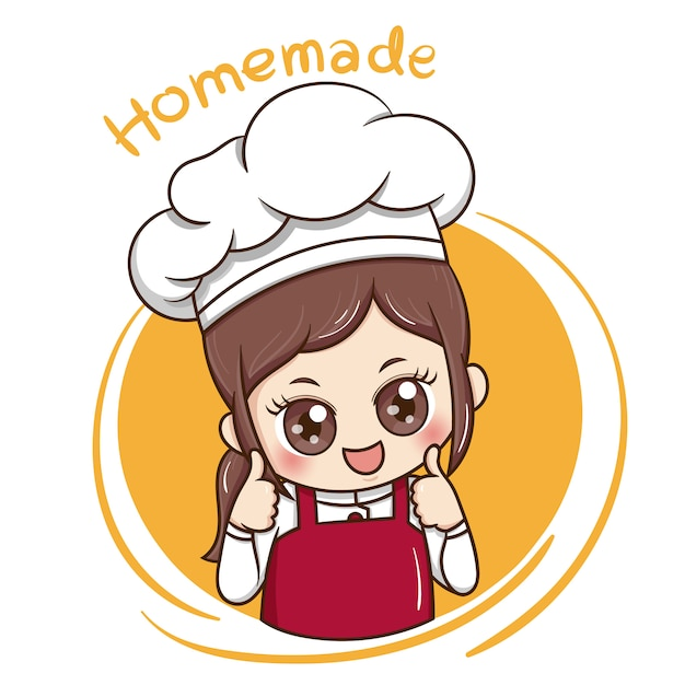 female chef vector premium