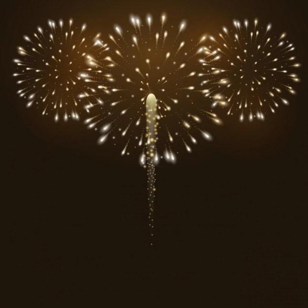 Fireworks background design Vector  Free Download