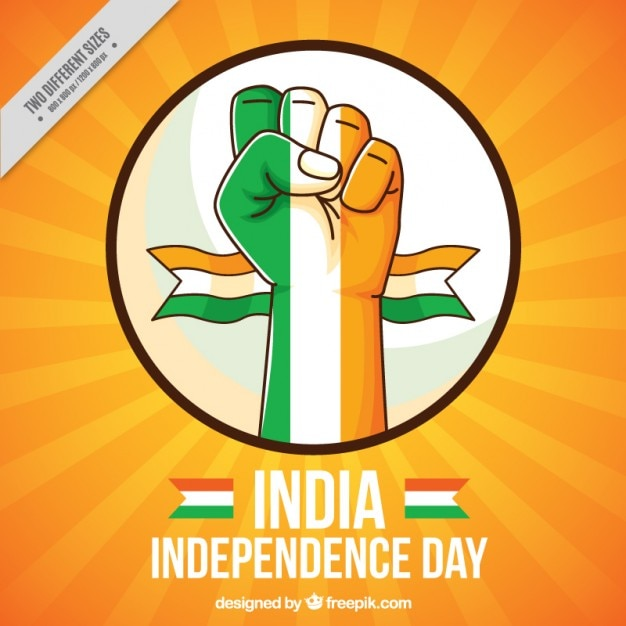 fist with india flag