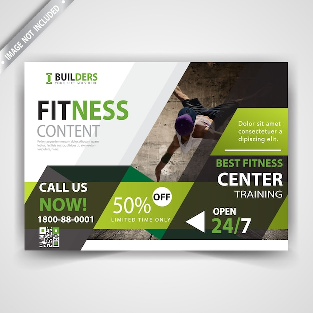 Fitness flyer template Vector   Free Download