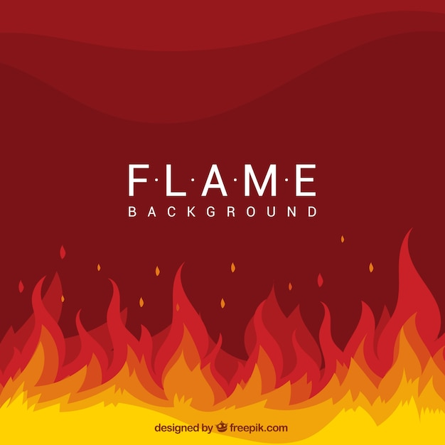 flat background with flames