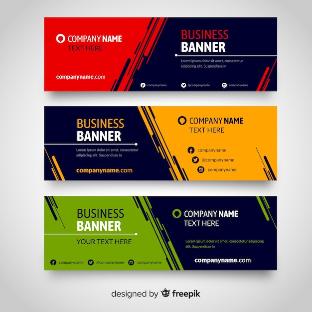 flat banners vector free