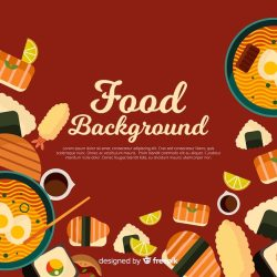 Free Vector Flat food background template