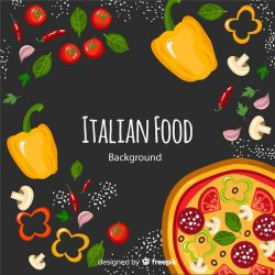 Free Vector Flat food background