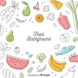 Premium Vector Flat food background