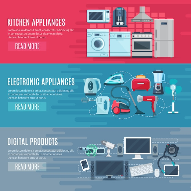 Different types of Kitchen Appliances and Electronic Appliances & Gadgets, manage documents to manage them properly