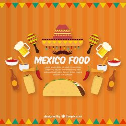 Free Vector Flat mexican food background