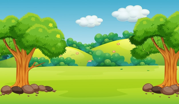 cartoon landscapes background vectors