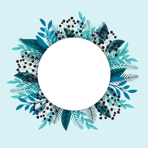 Free Vector Floral Circle Border