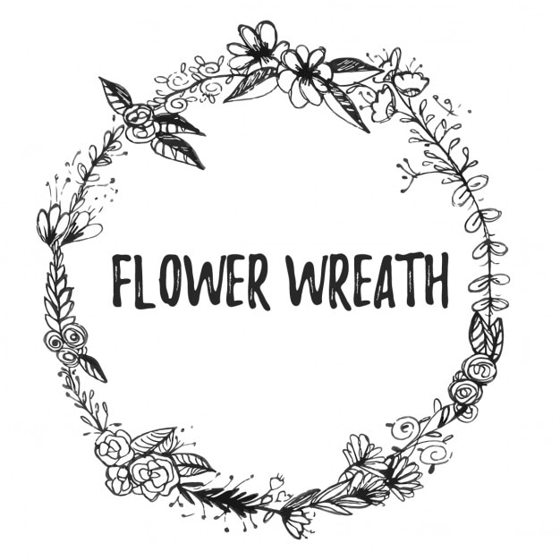 Floral frame hand drawn Vector  Free Download