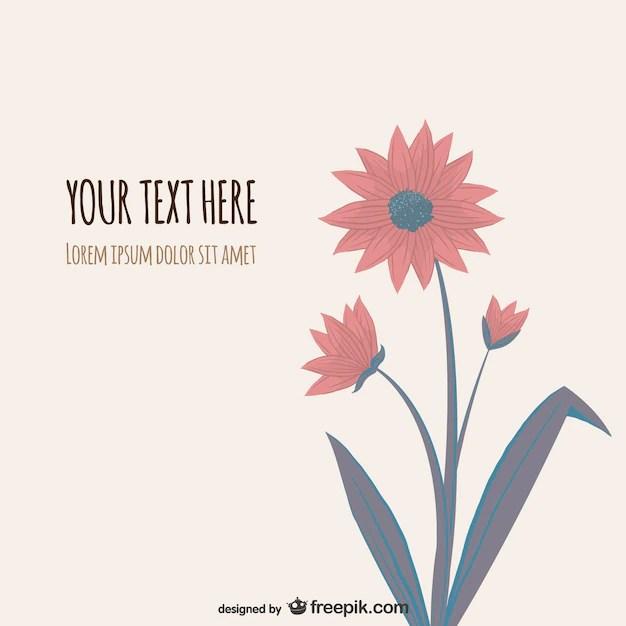 Flower Illustration Vector Vector Free Download