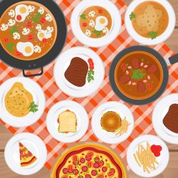 Free Vector Food background design