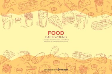 Free Vector Food background in sketchy style