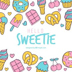 Free Vector Food background with sweets