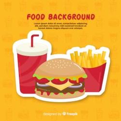 Premium Vector Food background