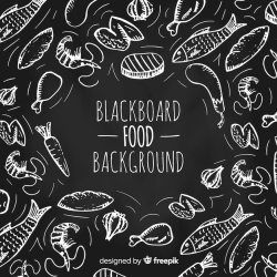 Free Vector Food doodle background