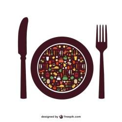 Premium Vector Food elements menu