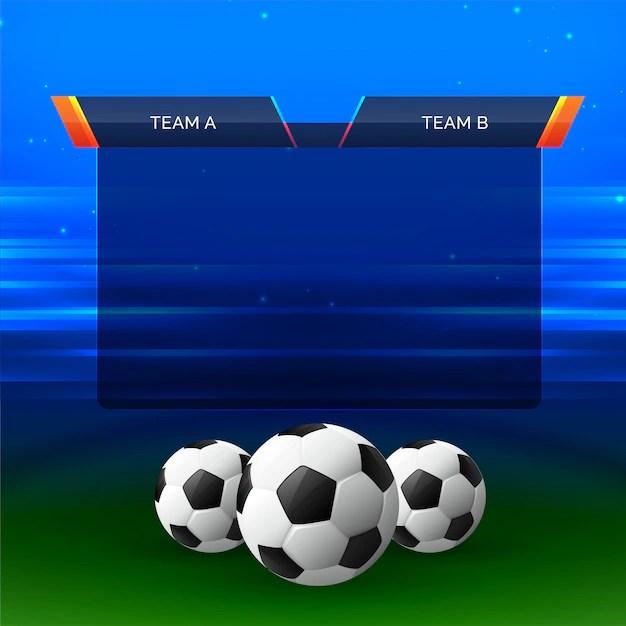 football sports chart design