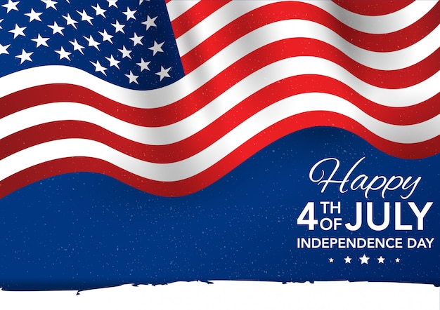 Premium Vector Fourth Of July Independence Day Flag Illustration