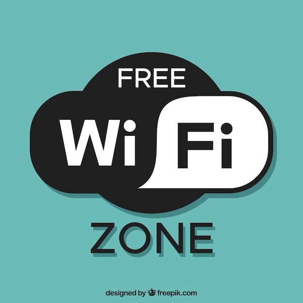 free wifi zone background