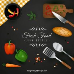 Free Vector Fresh food background