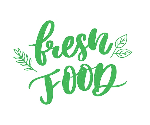 fresh food lettering calligraphy