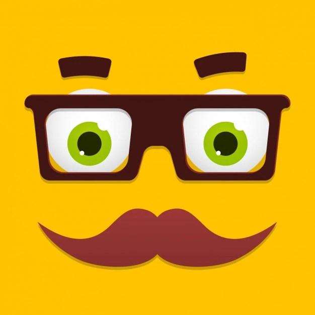 funny cartoon face design