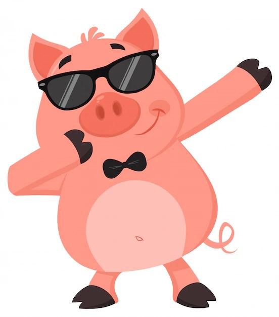 funny pig dab dabbing