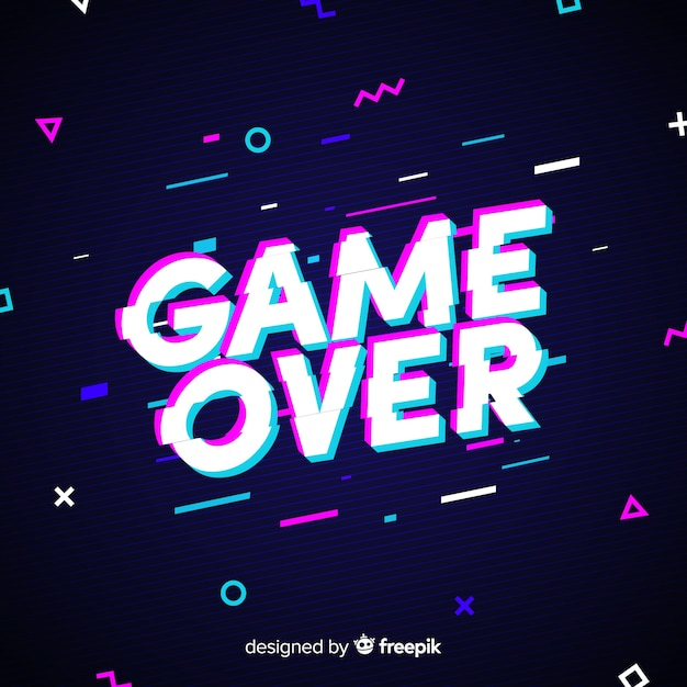 game over background vector