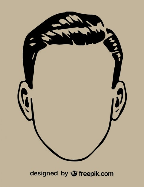 Head Outline Drawing : outline, drawing, Premium, Vector, Gentleman, Outline, Drawing