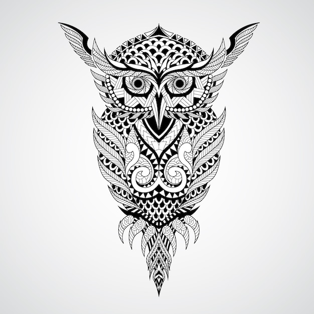 Geometrical Owl Design Background Vector Free Download