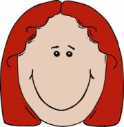 girl head smiley with red hair