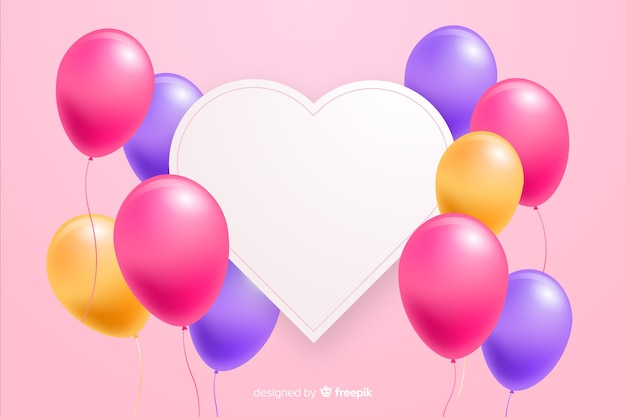 glossy balloons with blank