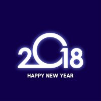 Glowing 2018 happy new year design Vector | Free Download